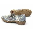 Rieker 41385-10 Ladies Suede Seashell Sandals Blue