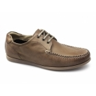 Ikon CHESTER Mens Leather Lace Up Moccasin Shoes Tan