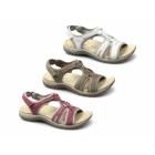 Earth Spirit CAROLINA 2 Ladies Suede Velcro Sports Sandals White