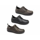 Hush Puppies BELFAST OXFORD Mens Leather Dual Fit Outdoor Shoes Black