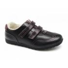 Natrelle ELM Ladies Faux Leather Velcro Fleece Lined Shoes Black