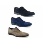 Gucinari PETRUS Mens Suede Cap Toe Oxford Shoes Taupe