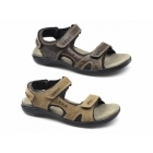 Shuperb JEFFREY Mens Triple Velcro Sports Sandals Brown