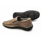 Catesby Shoemakers CHANDLER Mens Vented Leather Loafers Camel