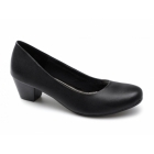 Comfort Plus PERSIA Ladies Leather Mid Block Heel Shoes Black