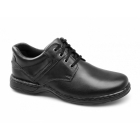 Hush Puppies BENNETT Mens Leather Dual Fit Shoes Black