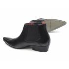 Paolo Vandini VEER III Mens Leather Winklepicker Mid Heel Boots Black