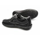 Dr Keller JUPITER Mens Leather Lace Up Shoes Black