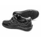Dr Keller PLUTO Mens Leather Touch Fasten Shoes Black