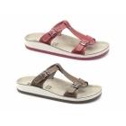 Fantasy Sandals ARILLAS Ladies T-Strap Slip On Sandals Tan