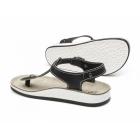 Fantasy Sandals ZANTE Ladies Toe Post Flat Sandals Black