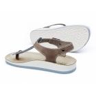 Fantasy Sandals ZANTE Ladies Toe Post Flat Sandals Blue/Tan