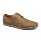 Front ASHCROFT 2 Mens Lace Up Brogue Shoes Tan