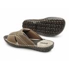 Ikon DEVON Mens Leather Nubuck Mule Sandals Tan