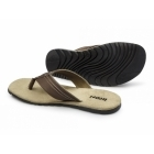 Ikon POOLE Mens Leather Toe Post Flip Flops Tan