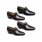 Paco Milan GINO Mens Leather Wingtip Cuban Heel Shoes Black