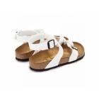 Birkenstock YARA Ladies Toe Strap Flat Sandals Patent White
