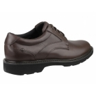 Rockport CHARLESVIEW Mens Leather Waterproof Derby Shoes Chocolate