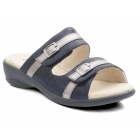 Padders PRIMA Ladies Velcro Wide E Fit Mule Sandals Navy