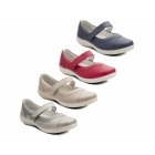 Padders DENISE Ladies Super Wide Plus Fit Velcro Shoes Red