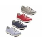 Padders JESSICA Ladies EEE/EEEE Wide Dual Fit Shoes Red