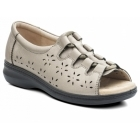 Padders COAST Ladies Leather Extra EE Wide Lace Up Sandals Pewter