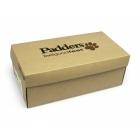 Padders HUG Ladies Microsuede Velcro Extra Wide (EE) Fitting Slippers Camel/Brown