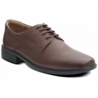 Padders ANDREW Mens Leather Lace-Up Wide (G) Shoes Tan