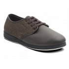 Padders BARKER Mens Leather Wide Fit Lace Up Slippers Brown