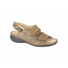 Boulevard JONI Ladies Velcro Faux Leather Slingback Sandals Tan