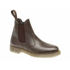 Grafters ELLIS Mens Leather Air Cushion Sole Dealer Boots Dark Brown