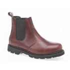 Grafters ROSS Mens Leather Gusset Oil Resistant Chelsea Boots Chestnut