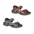 Mod Comfys KIRSTY Ladies Velcro Nubuck Sports Sandals Navy