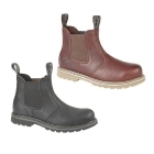 Woodland GABE Mens Leather Twin Gusset Chelsea Boots Black