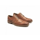 Catesby Shoemakers SURREY Mens Leather Goodyear Welted Brogue Shoes Tan