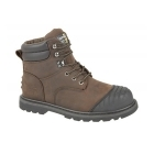 Grafters PROTECTOR Unisex S1 HRO SRA Safety Boots Brown