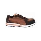 Puma Safety BARANI LOW 643010 Mens Suede Leather Safety Trainers Brown