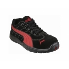 Puma Safety SILVERSTONE LOW 642630 Mens Leather Safety Trainers Black