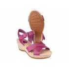 Hush Puppies EVA FARRIS Ladies Wide Fit Wedge Sandals Magenta