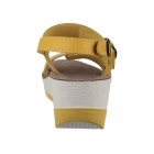Fantasy Sandals MYKONOS Ladies Halter Back Wedge Heel Sandals Yellow