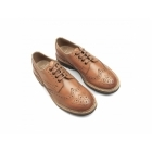Catesby Shoemakers WESSEX Mens Leather Cleated Brogue Shoes Tan