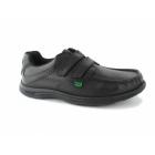 Kickers REASAN STRAP Mens Leather Shoes Black