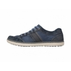 Skechers SORINO OSTIO Mens Canvas/Suede Lace-Up Trainers Navy