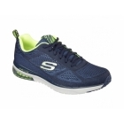 Skechers SKECH-AIR INFINITY Mens Gym Trainers Navy/Yellow