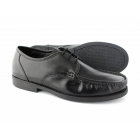 Lucini RAYMOND Mens Leather Lace-Up Moccasin Toe Shoes Black