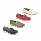 Amblers THAMES Ladies Slip On Classic Casual Loafers Pewter
