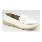 Amblers THAMES Ladies Slip On Classic Casual Loafers White