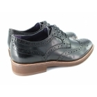 Gucinari VINCENTI Mens Lace Up Leather Brogue Derby Shoes Black