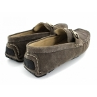 Ted Lapidus 3635 Mens Suede Driving Loafers Grey