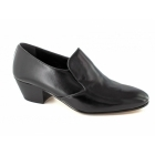 Shuperb NASSER II Mens Soft Leather Plain Cuban Heel Shoes Black